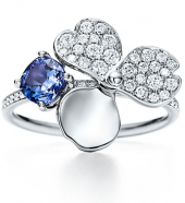 Кольцо Tiffany Paper Flowers Diamond and Tanzanite Flower Ring GRP10409