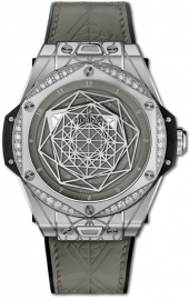 Hublot Big Bang One Click Sang Bleu Steel Grey Diamonds 39 mm 465.SS.7047.VR.1204.MXM20