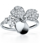 Кольцо Tiffany Paper Flowers Diamond Open Flower Ring GRP10408