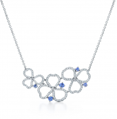 Колье Tiffany Paper Flowers Diamond and Tanzanite Open Cluster Necklace 61698213