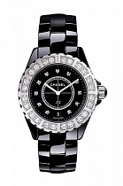 Chanel J12 Nero Diamonds Bezel & Dial Ladies