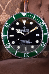 Настенные часы Rolex Submariner Black Dial Green