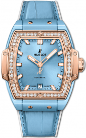 Hublot Spirit of Big Bang Light Blue Ceramic King Gold Diamonds 39 mm 665.EO.891L.LR.1204