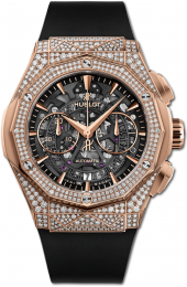 Hublot Classic Fusion Aerofusion Chronograph Orlinski King Gold Pave 45 mm 525.OX.0180.RX.1704.ORL19