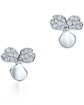 Серьги Tiffany Paper Flowers Diamond Flower Earrings 61626298