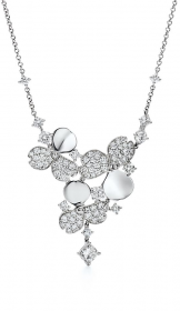 Колье Tiffany Paper Flowers Diamond Cluster Drop Necklace 61624791