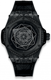 Hublot Big Bang Sang Bleu All Black Diamonds 39mm