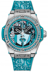 Hublot Big Bang One Click Marc Ferrero Steel Turquoise 39 mm 465.SX.1190.VR.1207.LIP19