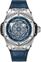 Hublot Big Bang One Click Sang Bleu Steel Blue Diamonds 39 mm 465.SS.7179.VR.1204.MXM19