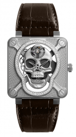Bell & Ross Instruments BR 01 Laughing Skull Light Diamond 46 mm BR01-SKULL-SK-LGD