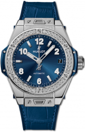 Hublot Big Bang One Click Steel Blue Diamonds 39 mm 465.SX.7170.LR.1204