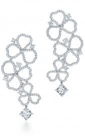 Серьги Tiffany Paper Flowers Diamond Open Flower Drop Earrings 62023708