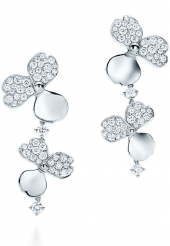 Серьги Tiffany Paper Flowers Diamond Cluster Drop Earrings 61624848