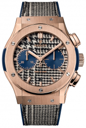 Hublot Classic Fusion Chronograph Italia Independent Pieds-de-Poule King Gold 45 mm 521.OX.2704.NR.ITI17