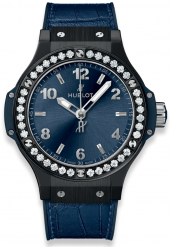 Hublot Big Bang Ceramic Blue Diamonds 38mm