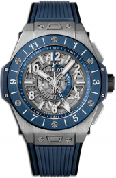 Hublot Big Bang Unico GMT Titanium Blue Ceramic 45 mm 471.NL.7112.RX