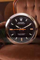 Настенные часы Rolex Milgauss Black Dial Z-Orange