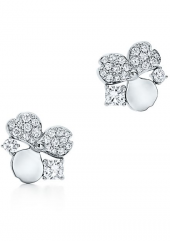 Серьги Tiffany Paper Flowers Diamond Cluster Earrings 61624864