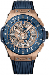 Hublot Big Bang Unico GMT King Gold Blue Ceramic 45 mm 471.OL.7128.RX