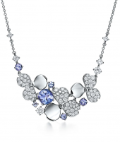 Колье Tiffany Paper Flowers Diamond and Tanzanite Cluster Necklace 61625674