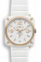 BELL&ROSS BR S Pink Gold & White Ceramic
