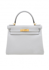 Сумка Hermes Kelly 28 Blue Pale Clemence Gold Hardware